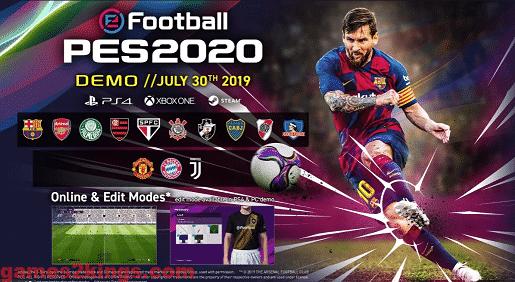 لعبة بيس 2020 ديمو للكمبيوتر